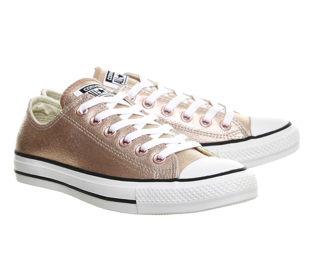 converse all star low leather in pink lyst. Black Bedroom Furniture Sets. Home Design Ideas