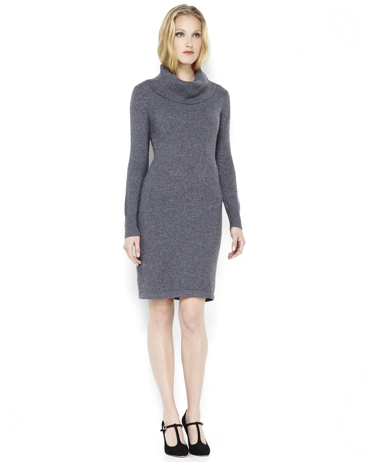 Grey Sweater Dress Clothing