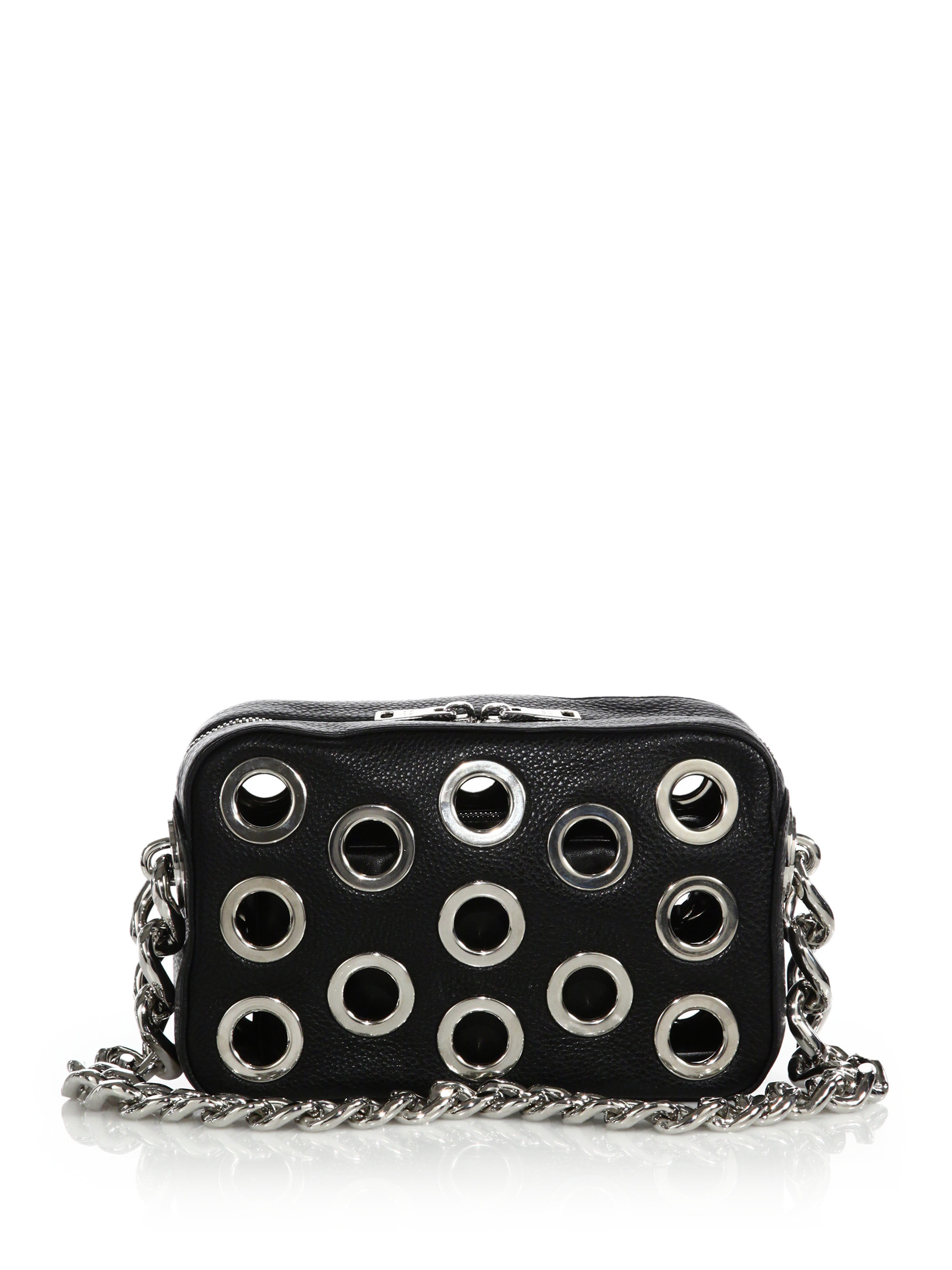 e0e76977ef62 1234 024a4 0a23f new style lyst prada daino chain bowler bag with grommets  in black 34afe 1ec26 ...