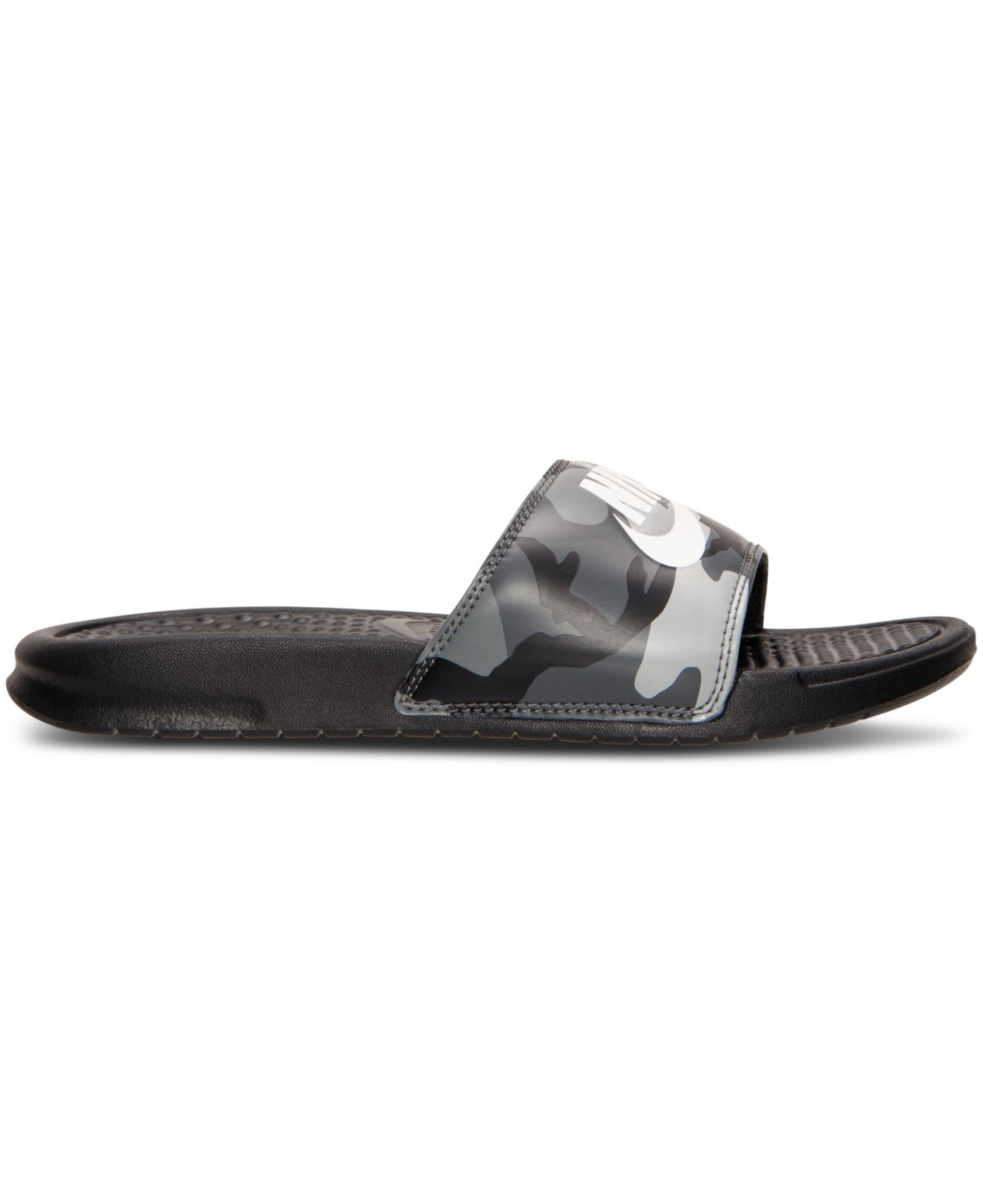 174ef6008083 Lyst - Nike Men s Benassi Jdi Print Slide Sandals From Finish Line ...