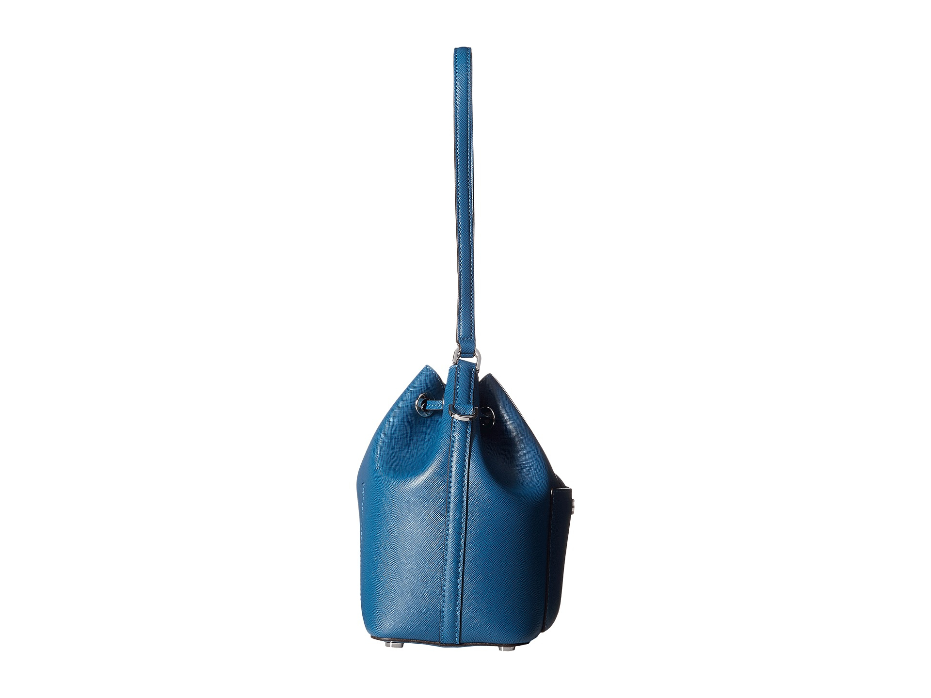 1ff7f44b5e861 Lyst - MICHAEL Michael Kors Greenwich Medium Bucket Bag in Blue