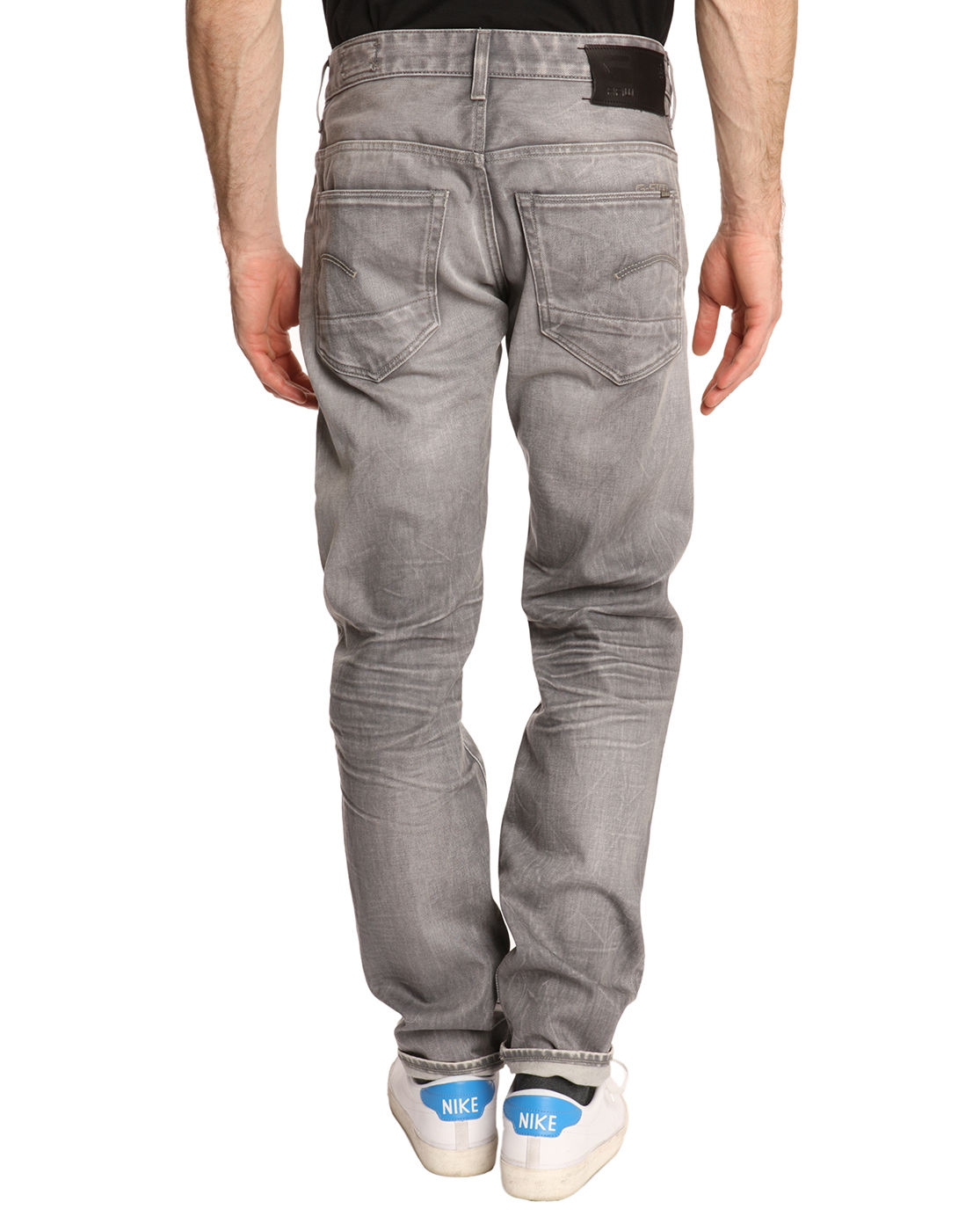 g star raw 3301 low tapered jeans faded grey in gray for men lyst. Black Bedroom Furniture Sets. Home Design Ideas