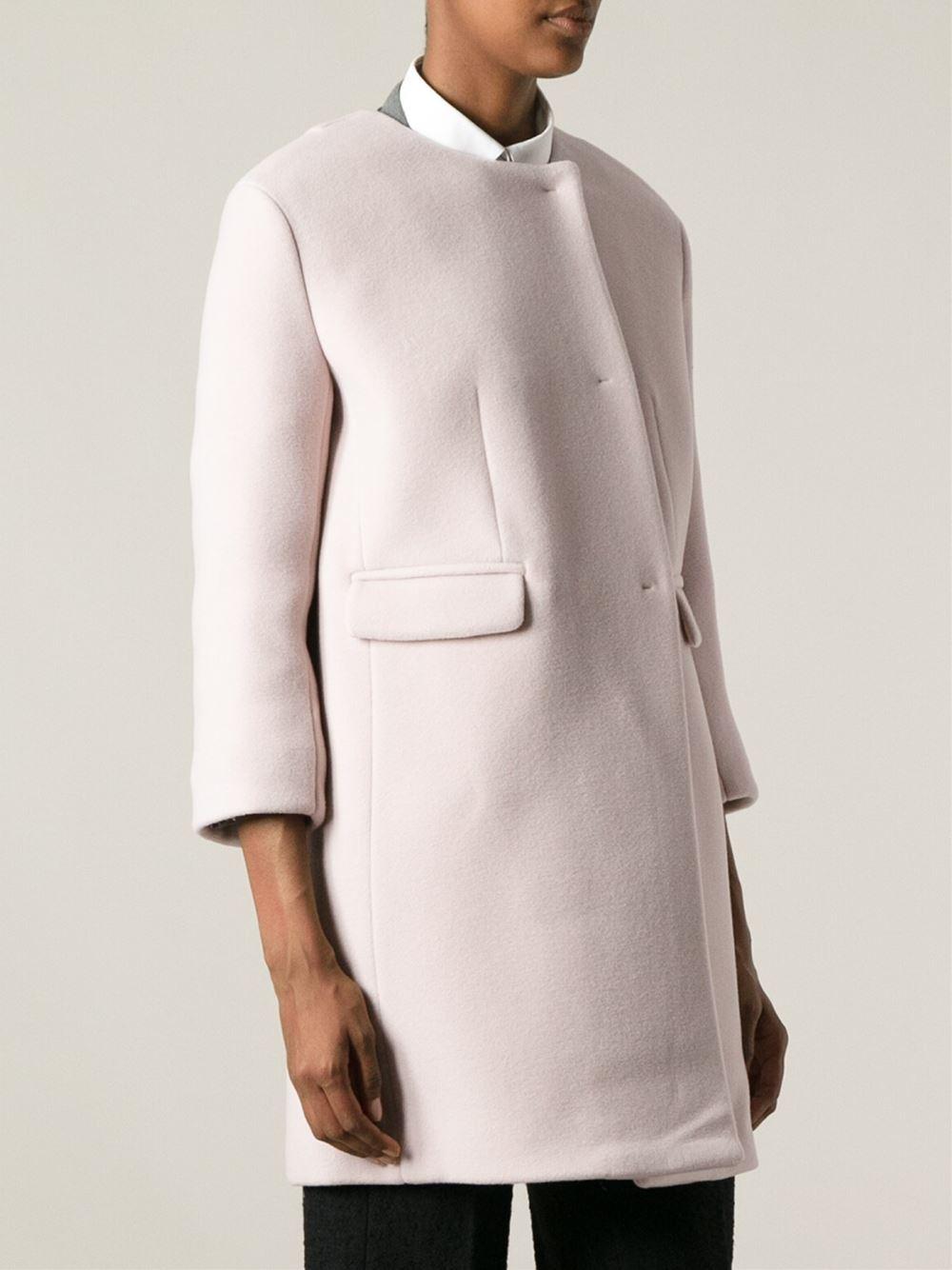 Pink Collarless Coat Fashion Women S Coat 2017