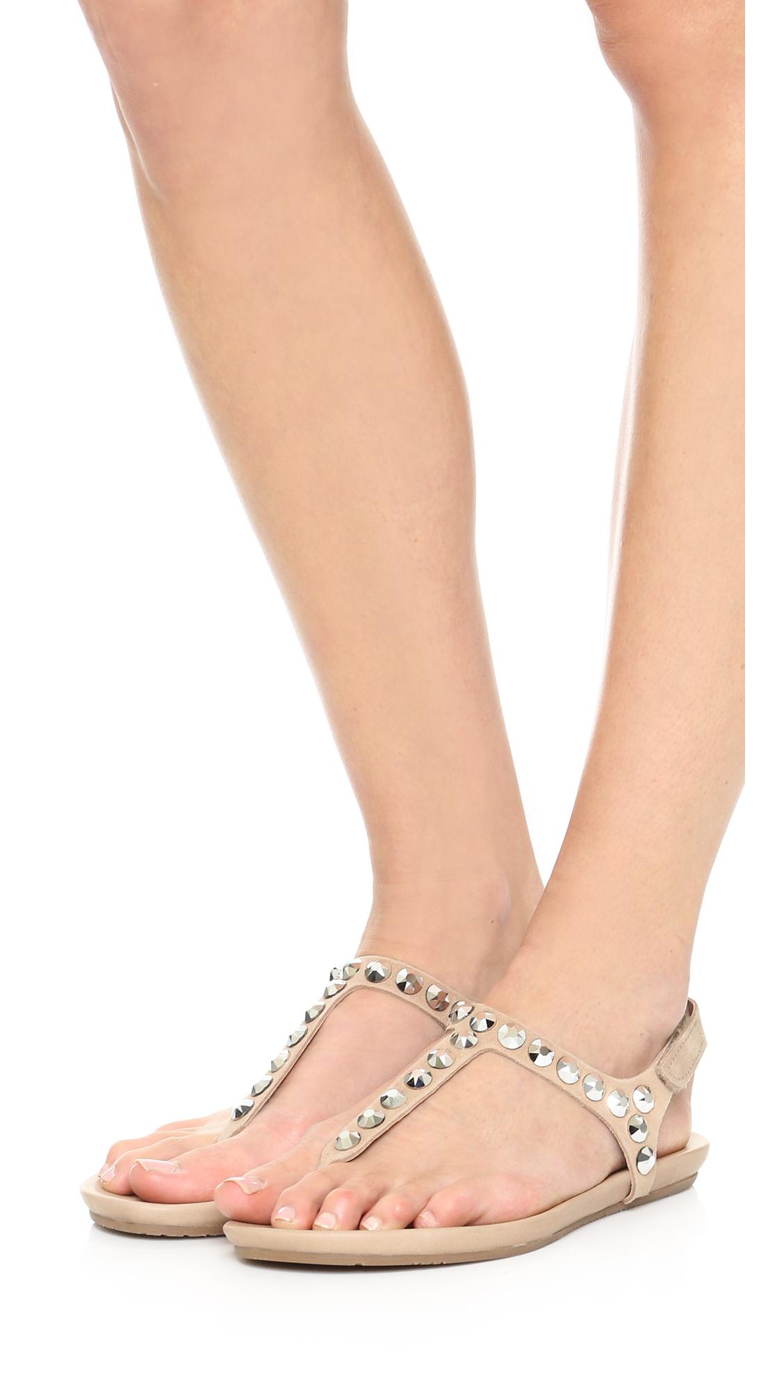 6281b873e32fd1 Lyst - Pedro Garcia Judith Embellished Sandals in Natural
