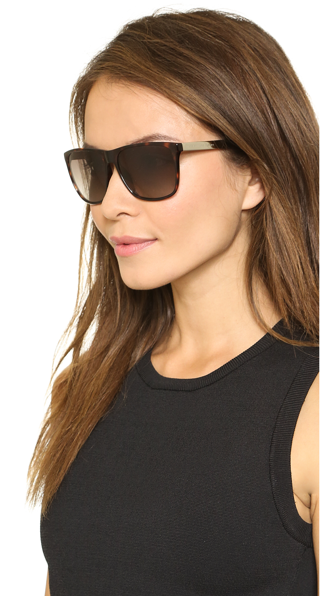 2100808fbd Lyst - Marc By Marc Jacobs Flat Top Sunglasses Havanabrown Gradient ...