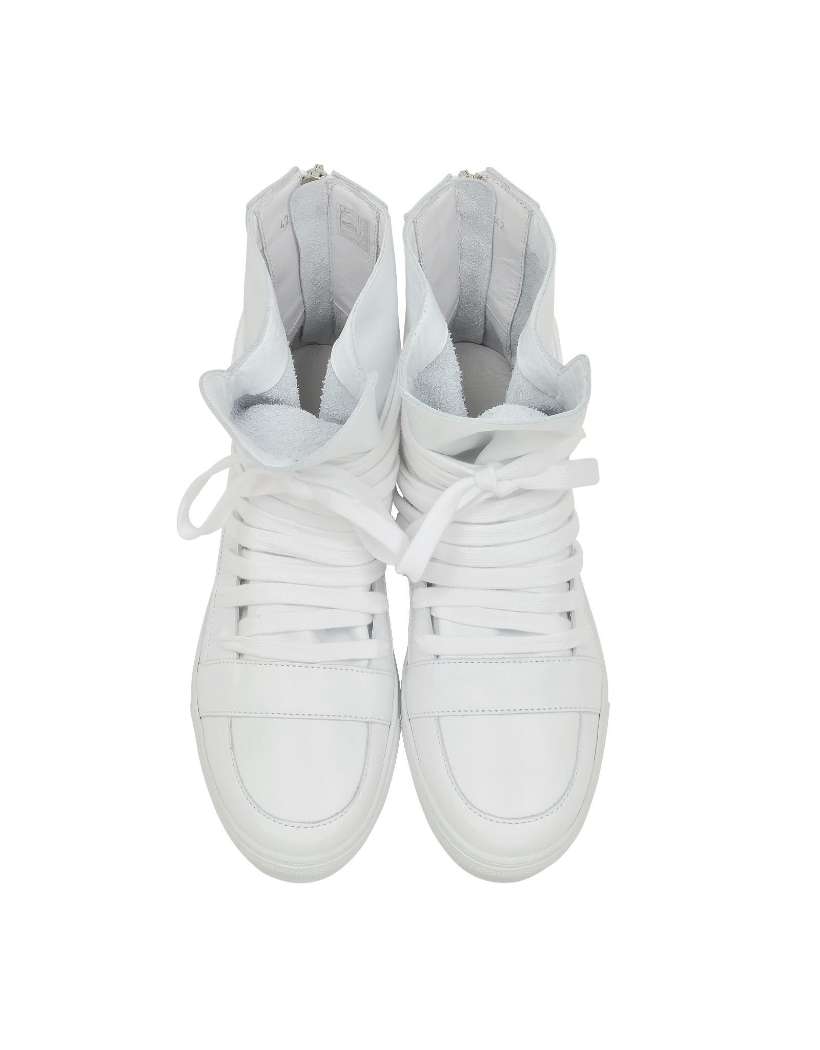 d96d357ede8388 Kris Van Assche White High Top Multilaces Sneaker in White for Men ...