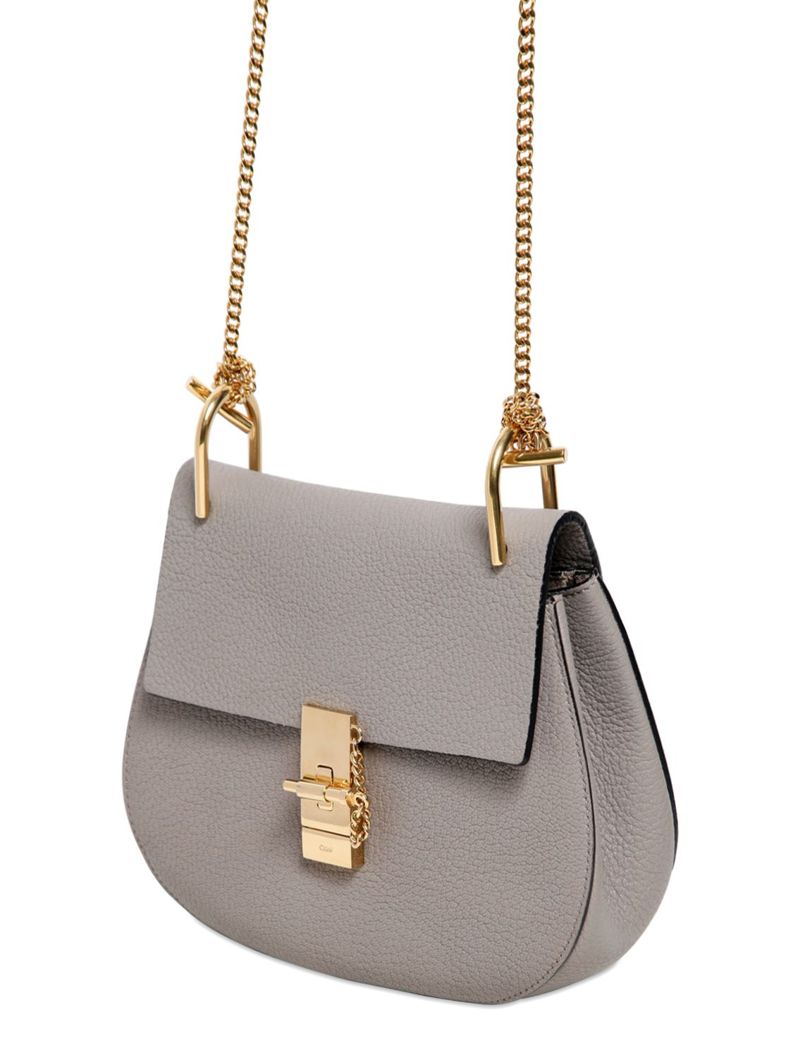 drew small bag in grained leather