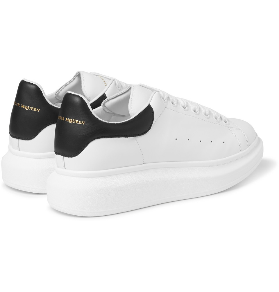1e95759b9878 Lyst - Alexander McQueen Leather Sneakers in White for Men