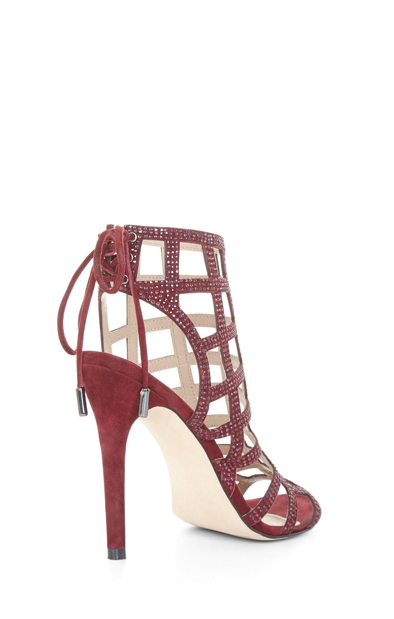 4f964d29cebb Lyst - BCBGMAXAZRIA Lien High-heel Caged Sandal in Purple