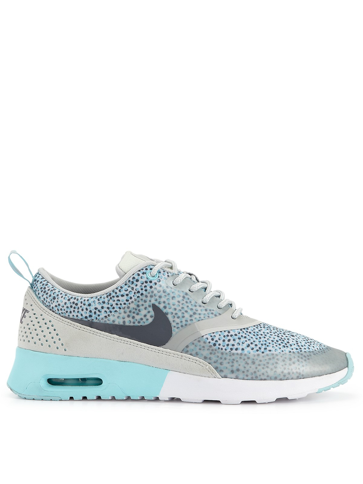 nike nike air max thea print fashion trainers in blue for. Black Bedroom Furniture Sets. Home Design Ideas