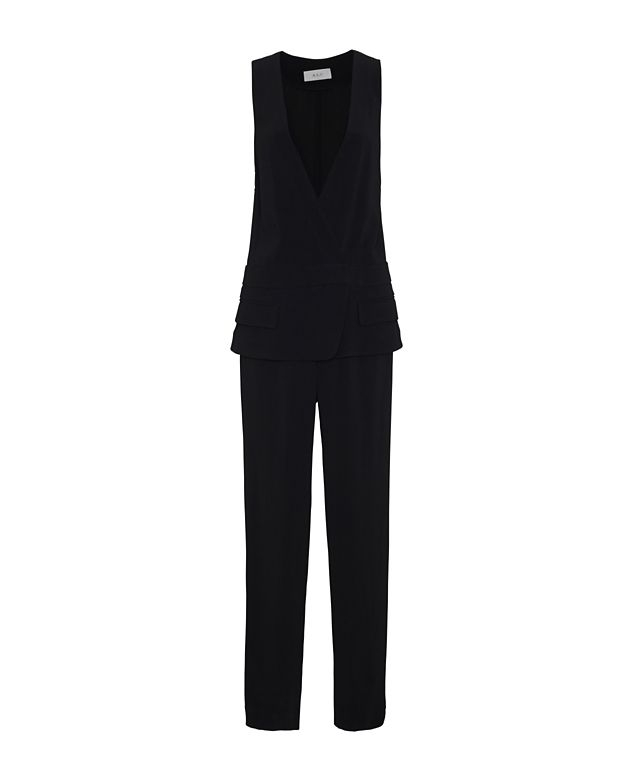 d4506d39180 Lyst - A.L.C. Mae Sleeveless Tuxedo Jumpsuit in Black