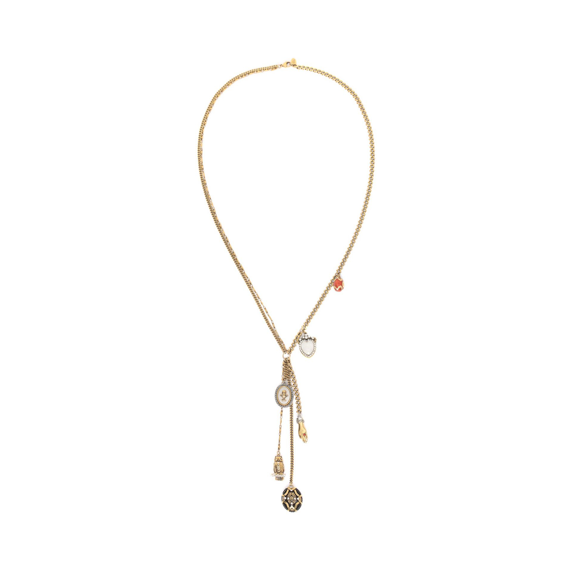 Ballet Bullet Charms necklace Alexander McQueen XEePjbMw4