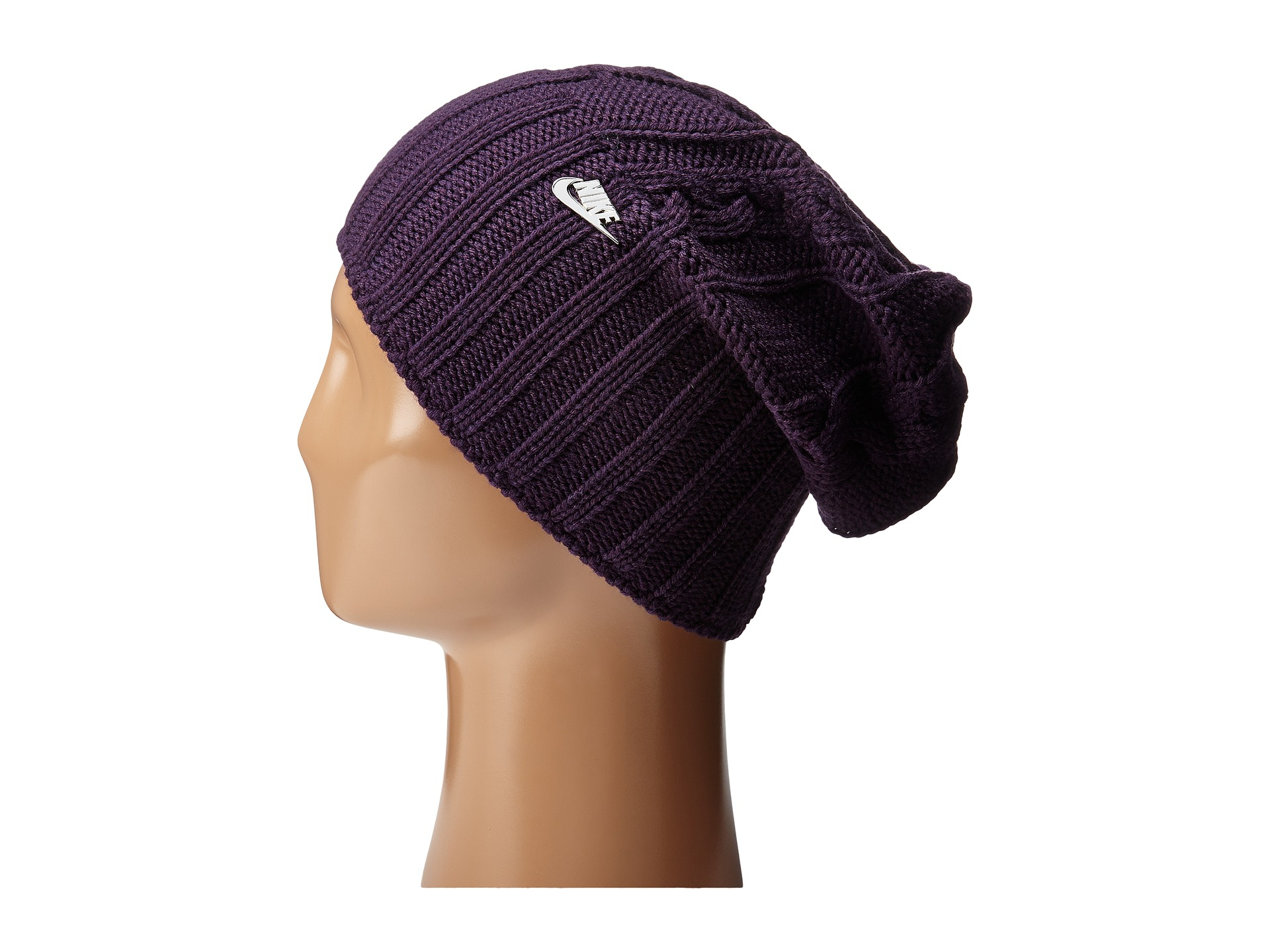 Lyst - Nike Cable Knit Beanie in Purple f9180c181b0