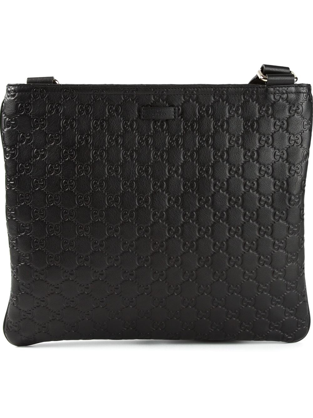 cc22b8df1fbeed Gucci Monogram Messenger Bag in Black for Men - Lyst