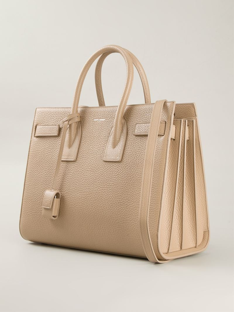 dfc49881372e Saint Laurent Small  sac De Jour  Tote in Natural - Lyst