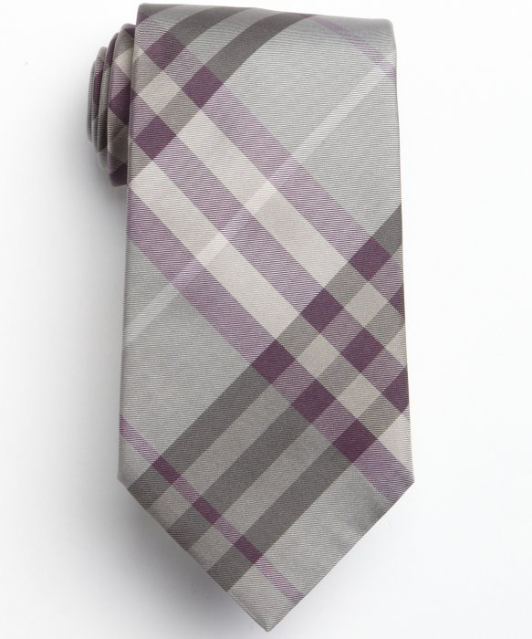 aefdd8764561 ... spain lyst burberry pale greystone and lilac check silk tie in gray for  men 7fa17 6efca