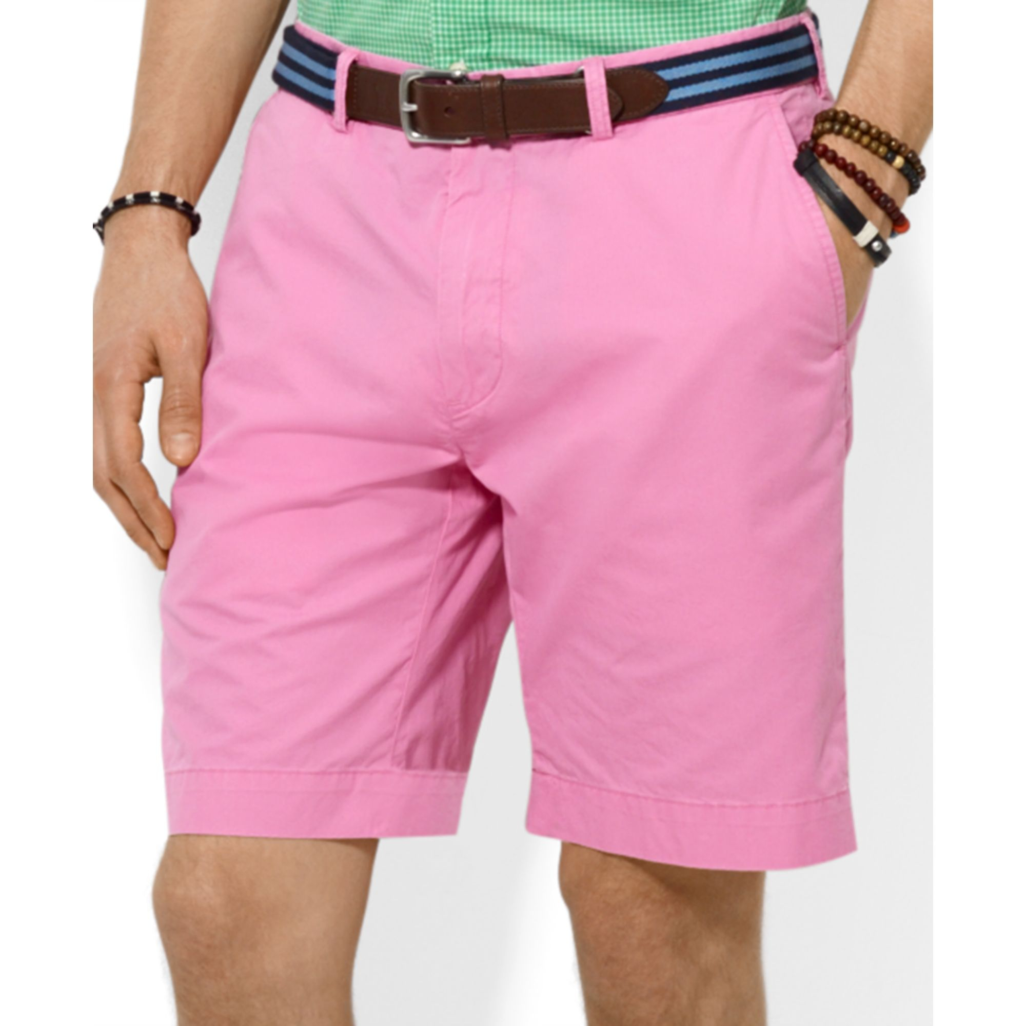 1dff64cd282d1 ... sale lyst ralph lauren polo classicfit lightweight chino shorts in pink  49af5 91715