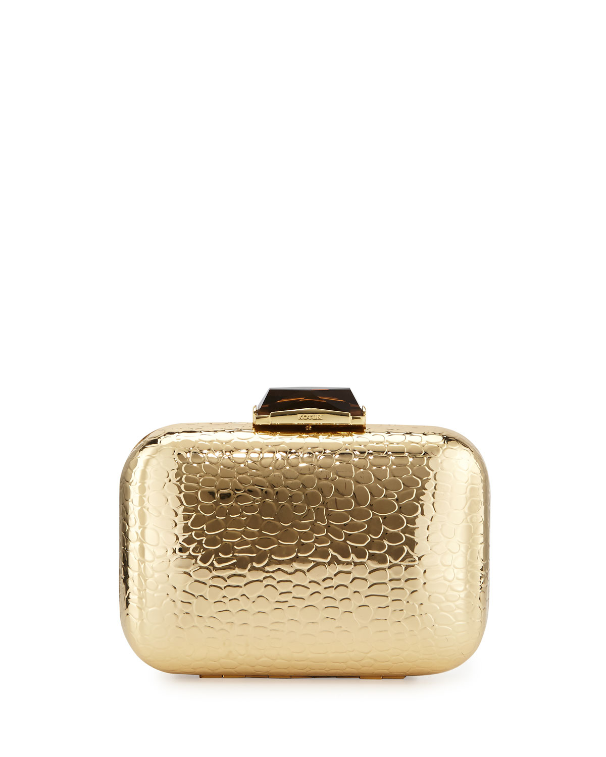 a1b198fe1521 Lyst kotur morley crocembossed box clutch bag gold in metallic jpg  1200x1500 Gold clutch bags