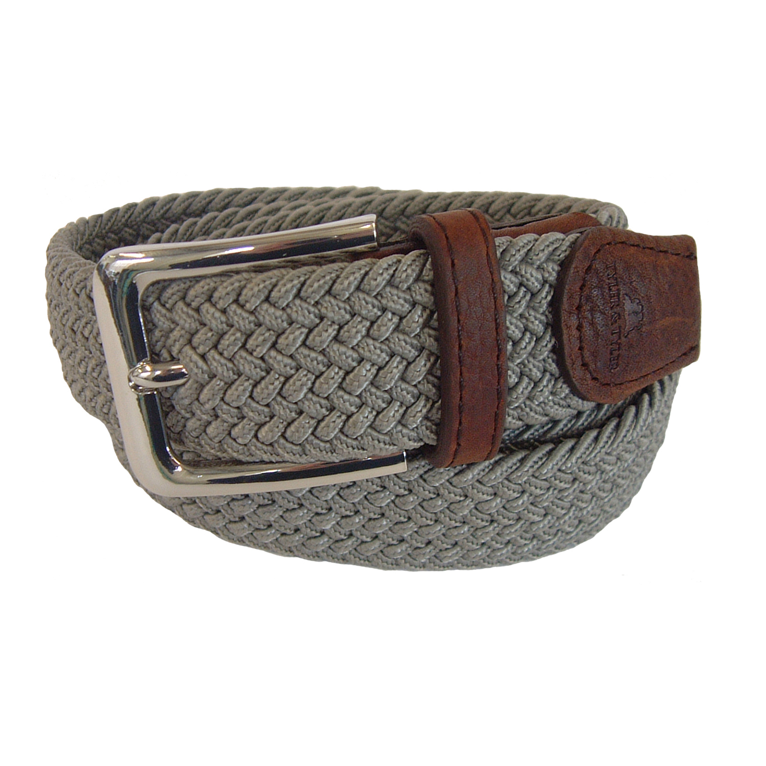 and woven belt grey in brown for lyst