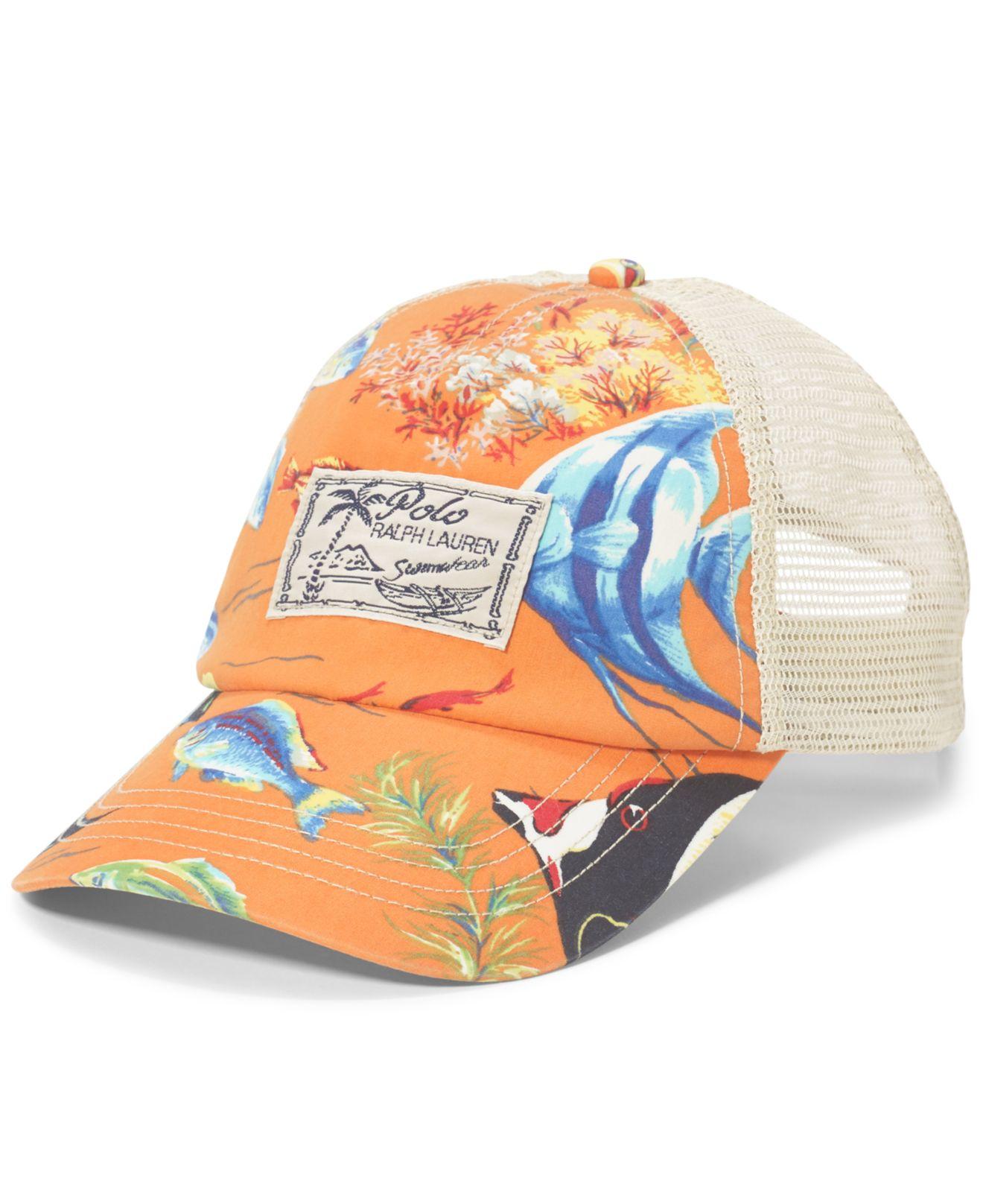 Lyst - Polo Ralph Lauren Angelfish-print Trucker Hat for Men 7fad1dbab312