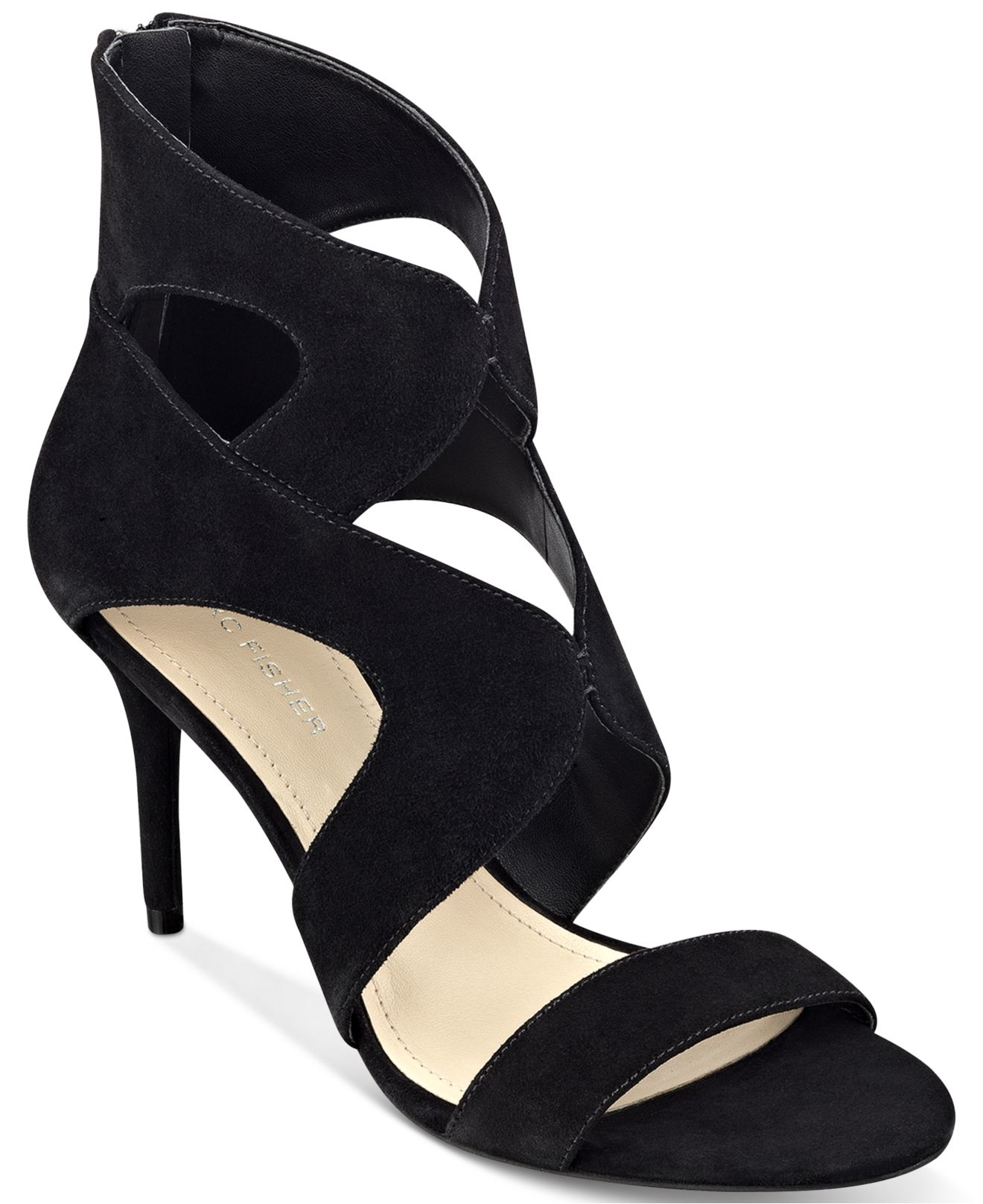 Marc fisher Brittany Dress Sandals in Black - Lyst