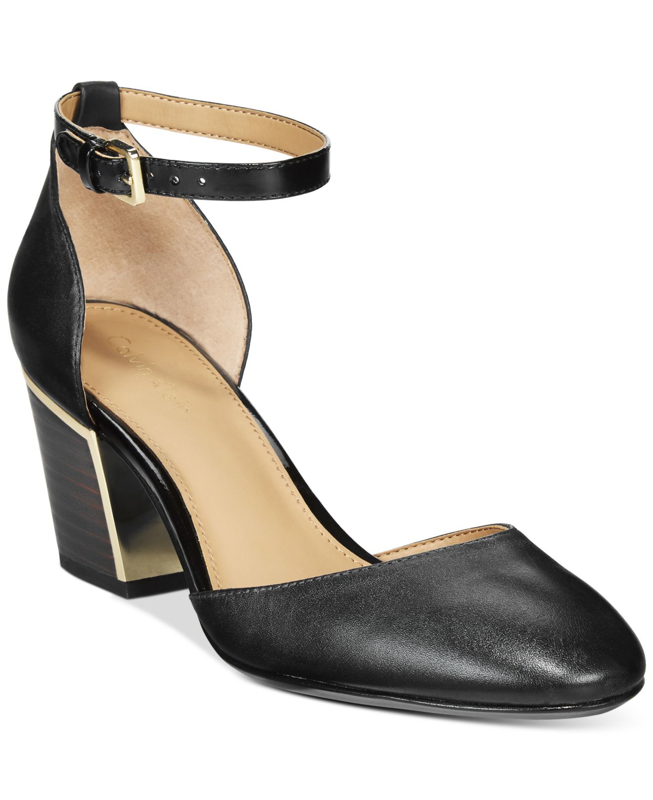 Calvin Klein Black And Gold Shoes