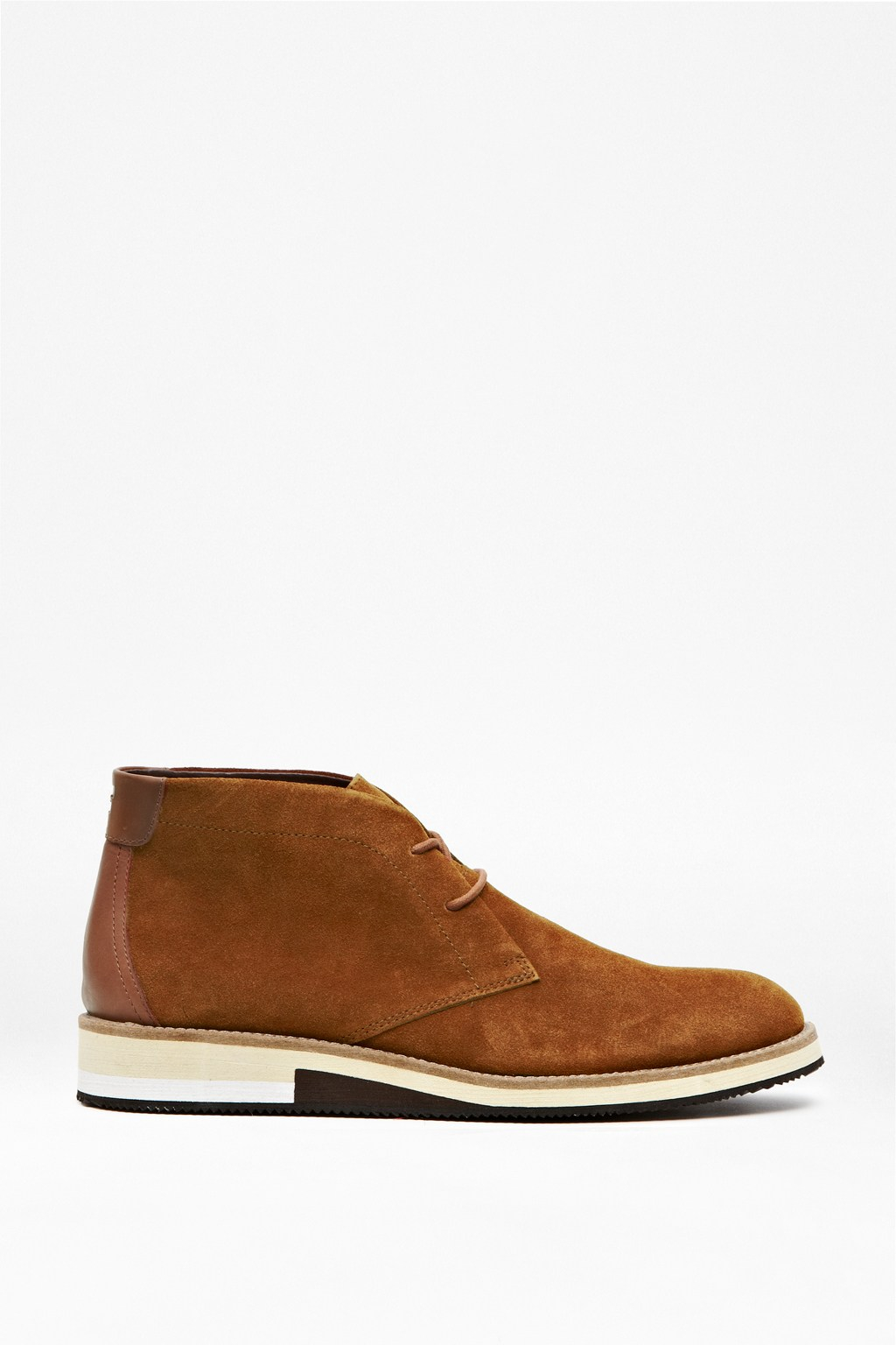 connection corian suede desert boots in brown for