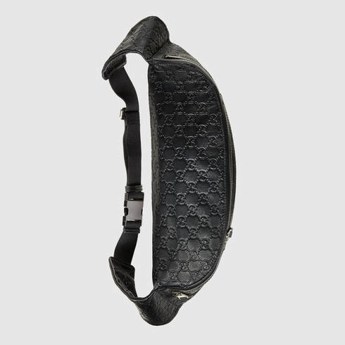 832b08bc3b3d Gucci Ssima Belt Bag With Web in Black for Men - Lyst