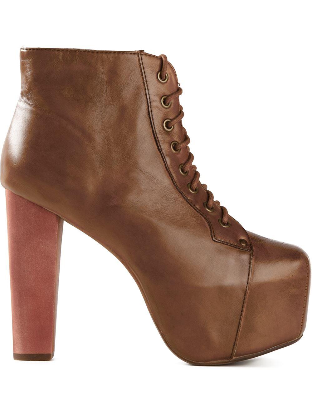jeffrey cbell lita boots in brown lyst