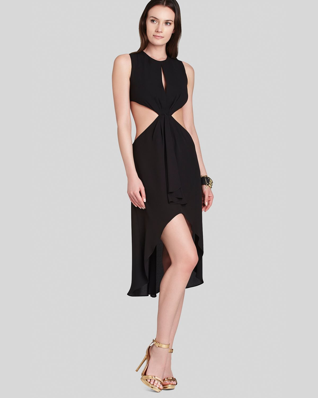Lyst - Bcbgmaxazria Victoria Cutout Dress in Black