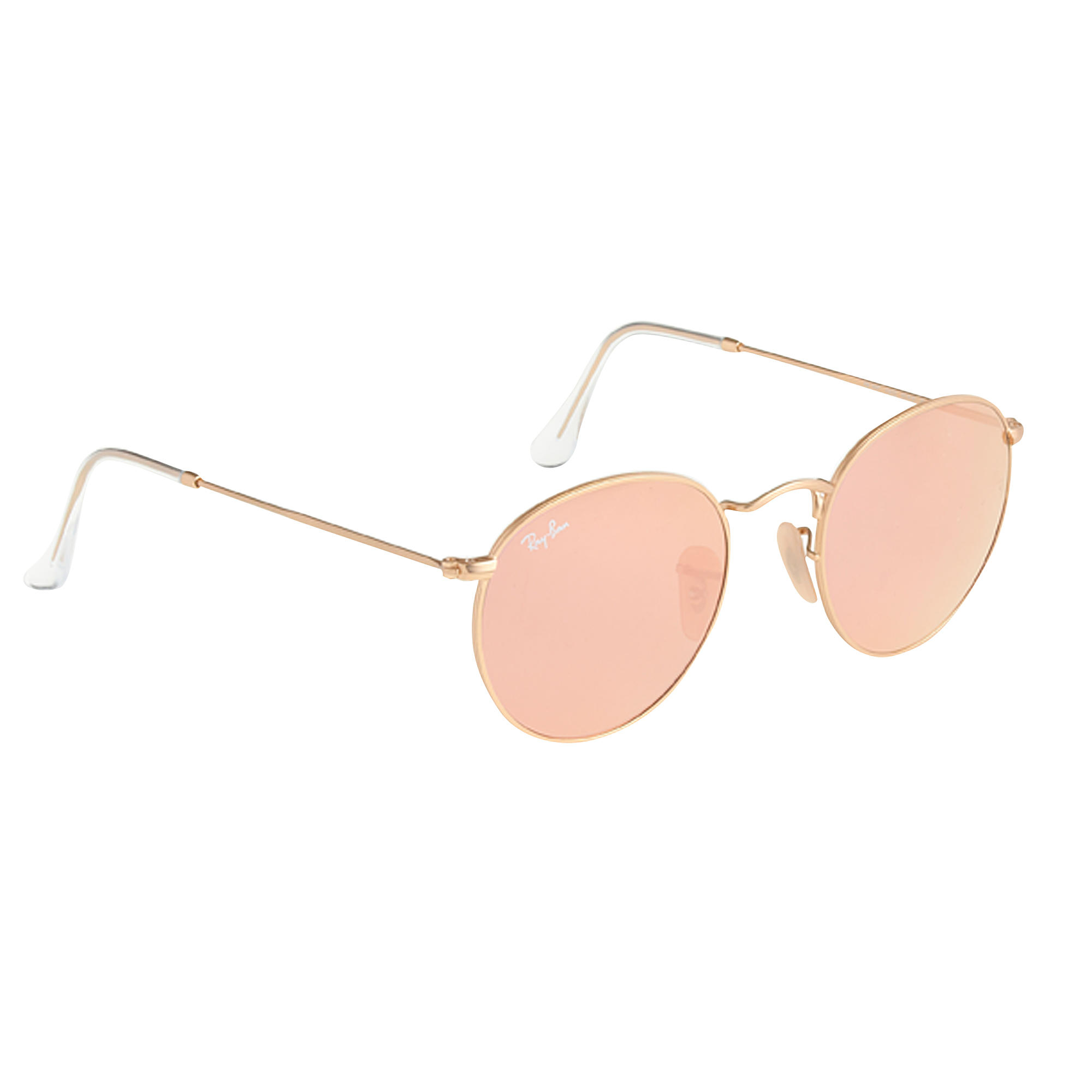 bcc3922b5fd51 ... clearance lyst j.crew ray ban retro round sunglasses with flash lenses  in pink 19998