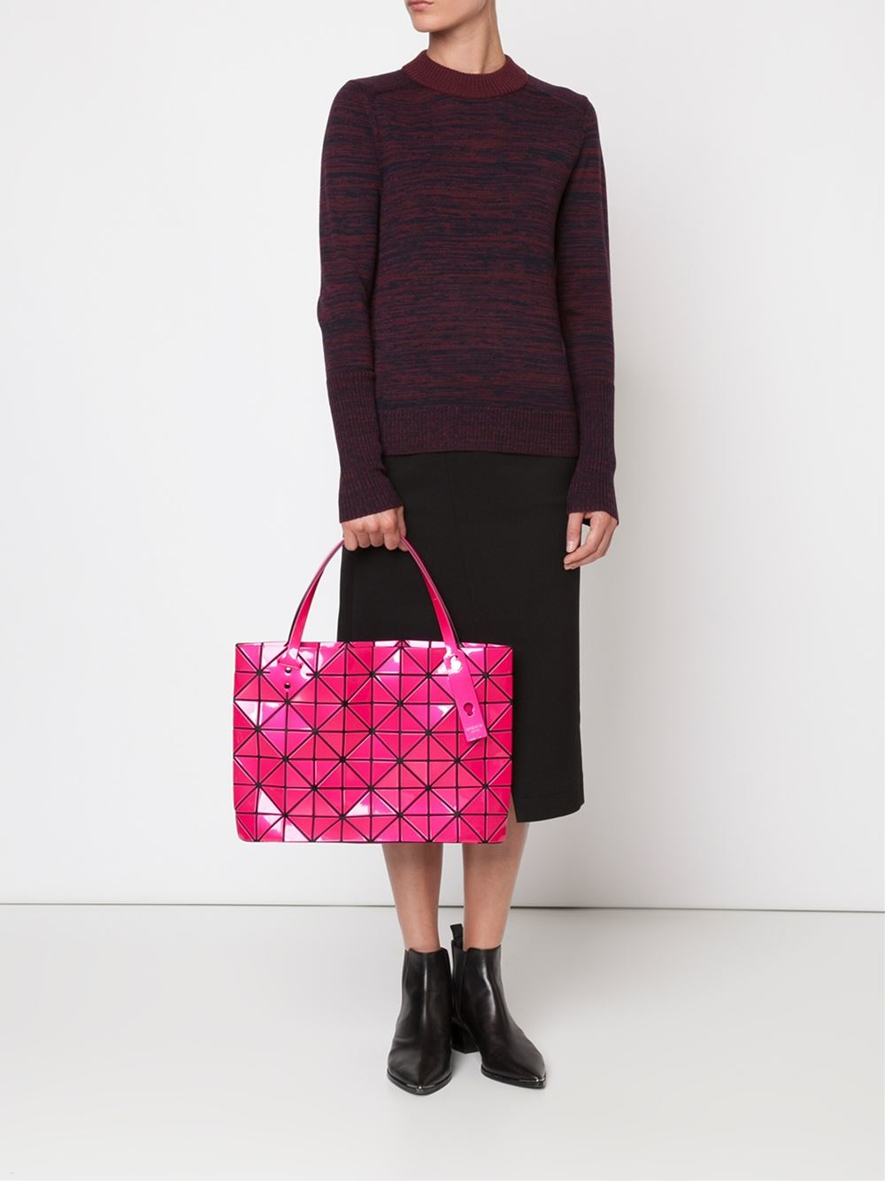 7ac4b731fb1d Lyst - Bao Bao Issey Miyake  rock-3  Tote in Pink
