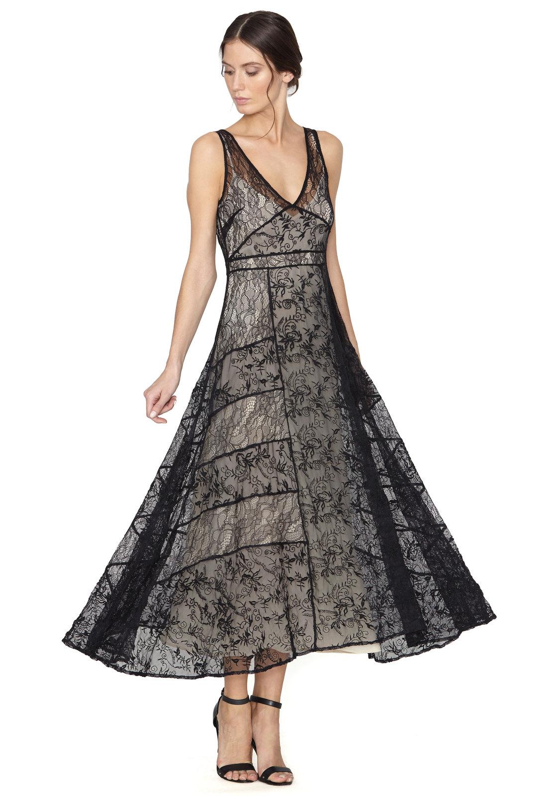Alice and olivia black maxi dress