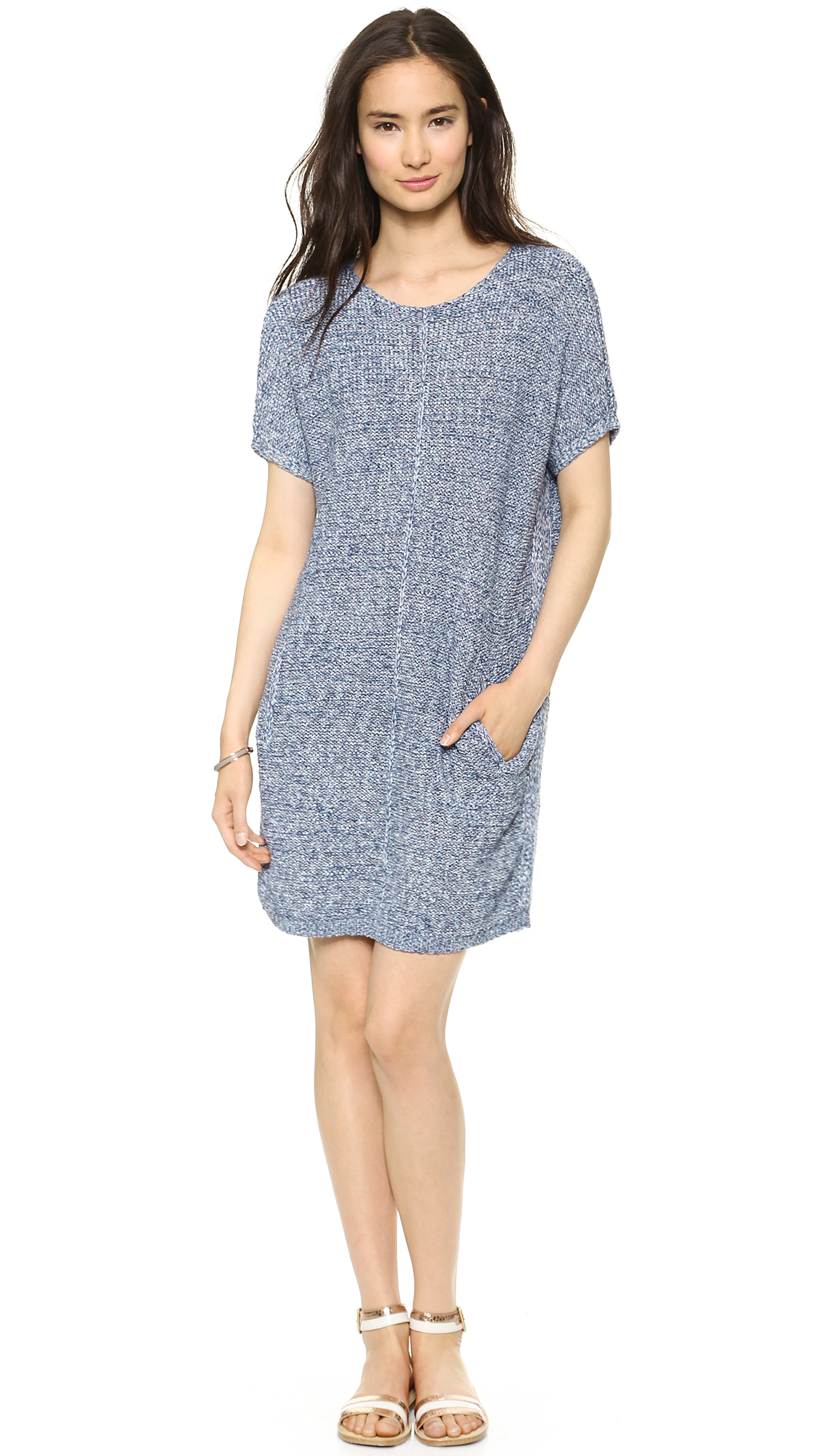 86913cafa6b Marc By Marc Jacobs Marley Tunic Sweater Dress Century Blue Marle in ...