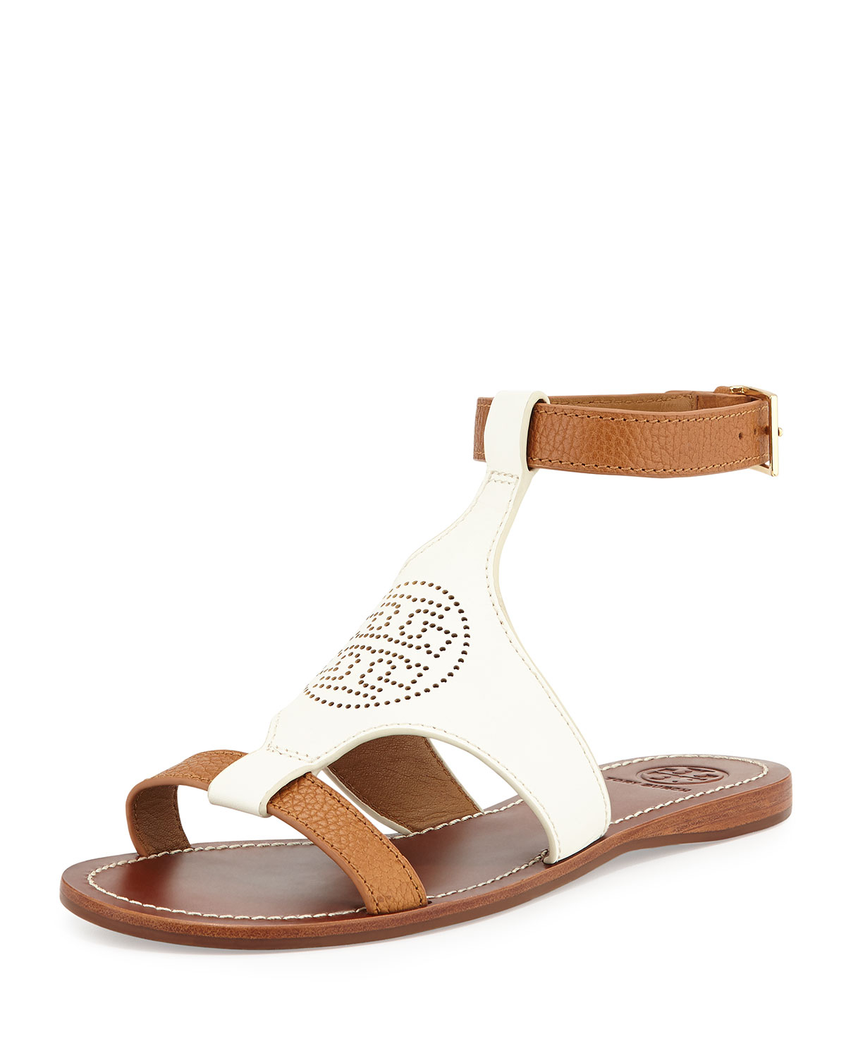 Tory Burch Leather Caged Sandals outlet store Locations visa payment sale online with credit card outlet get authentic rwe3Jk