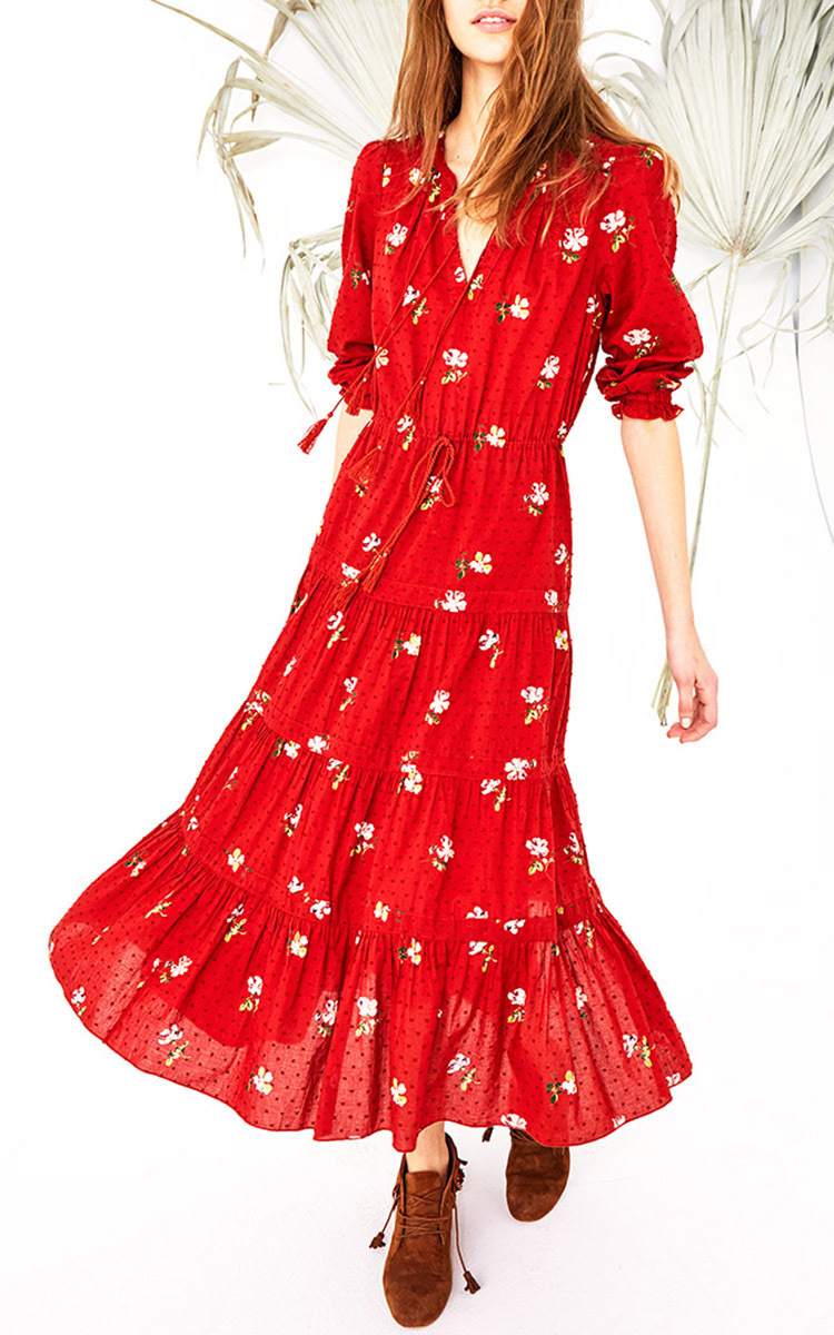 Ulla Johnson Floral Clementine Dress In Red Lyst
