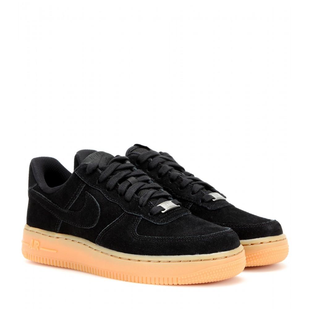 Nike Air Force 1 Suede Sneakers in Black | Lyst