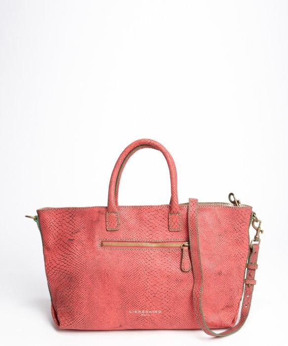 Liebeskind Coral Textured Leather Zipper Detail La Snake