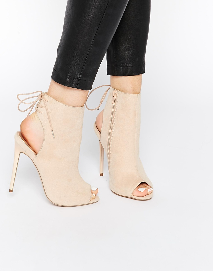 Peep Toe Shoe Boots New Look