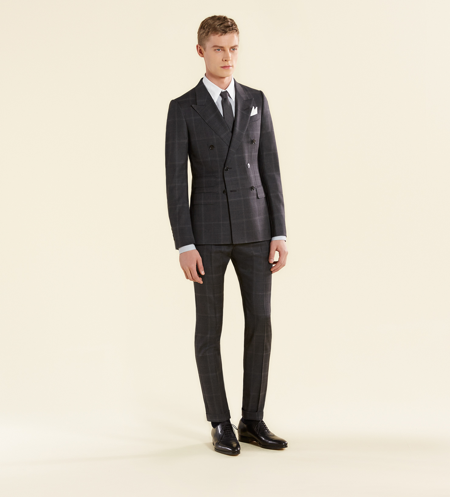 Gucci New Signoria Check Wool Suit In Gray For Men Lyst