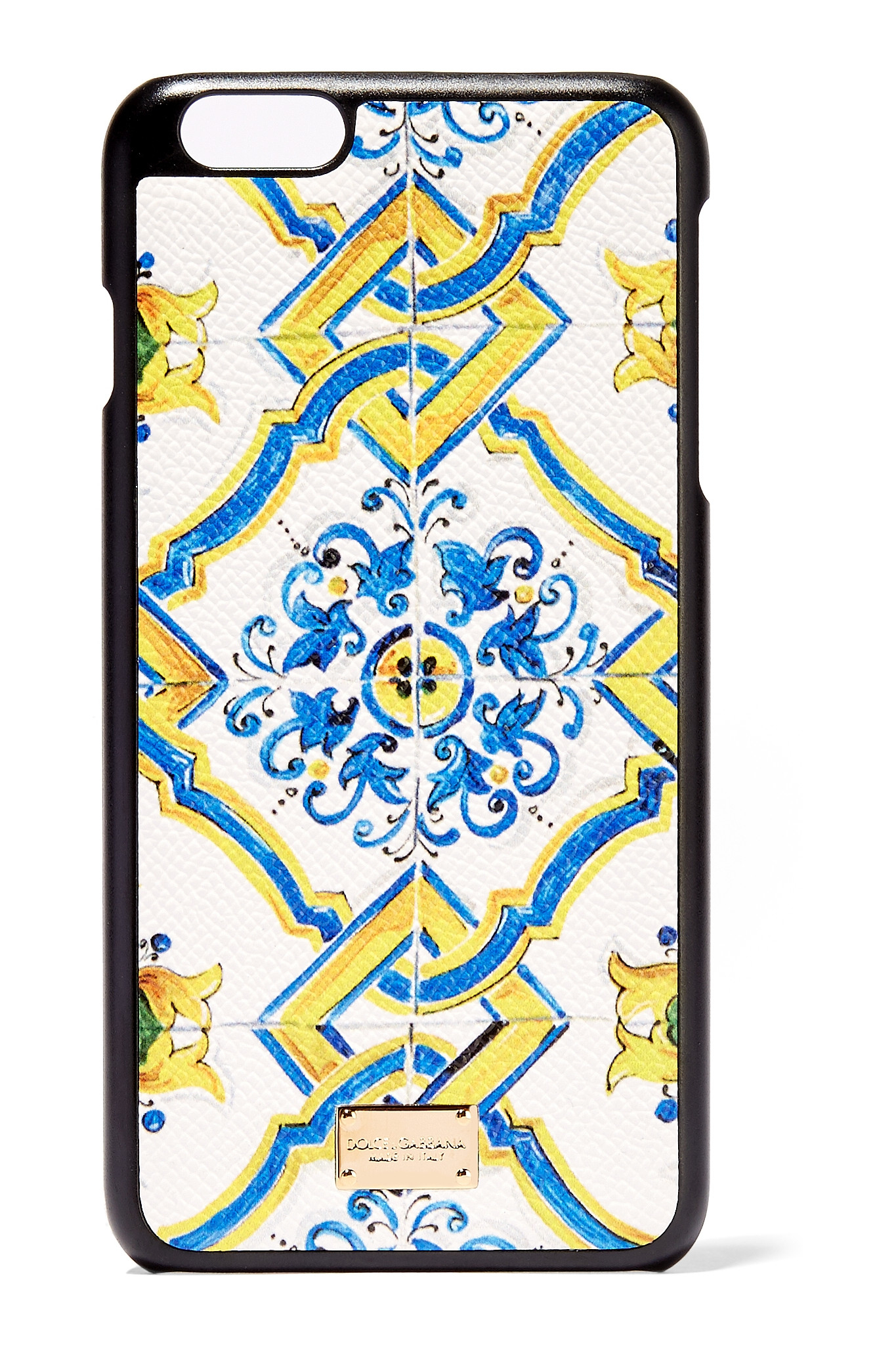 Printed Textured-leather Iphone 7 Plus Case - White Dolce & Gabbana aaamf