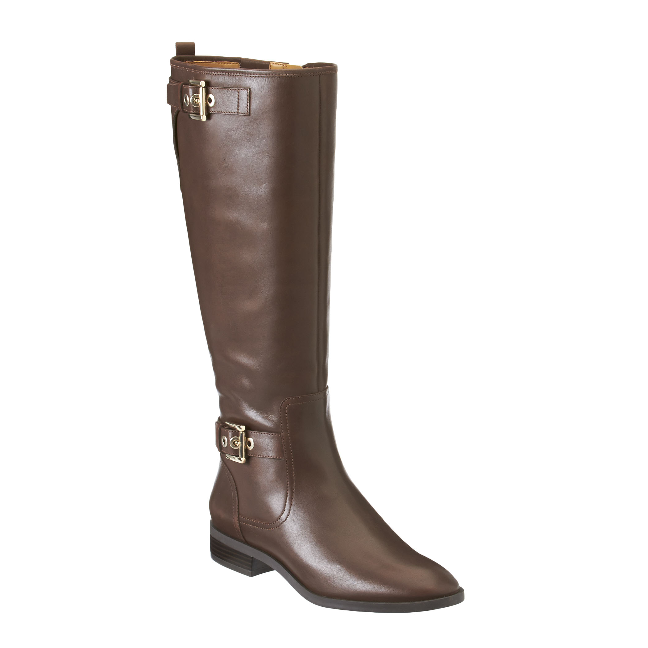 nine west bringit leather boots in brown