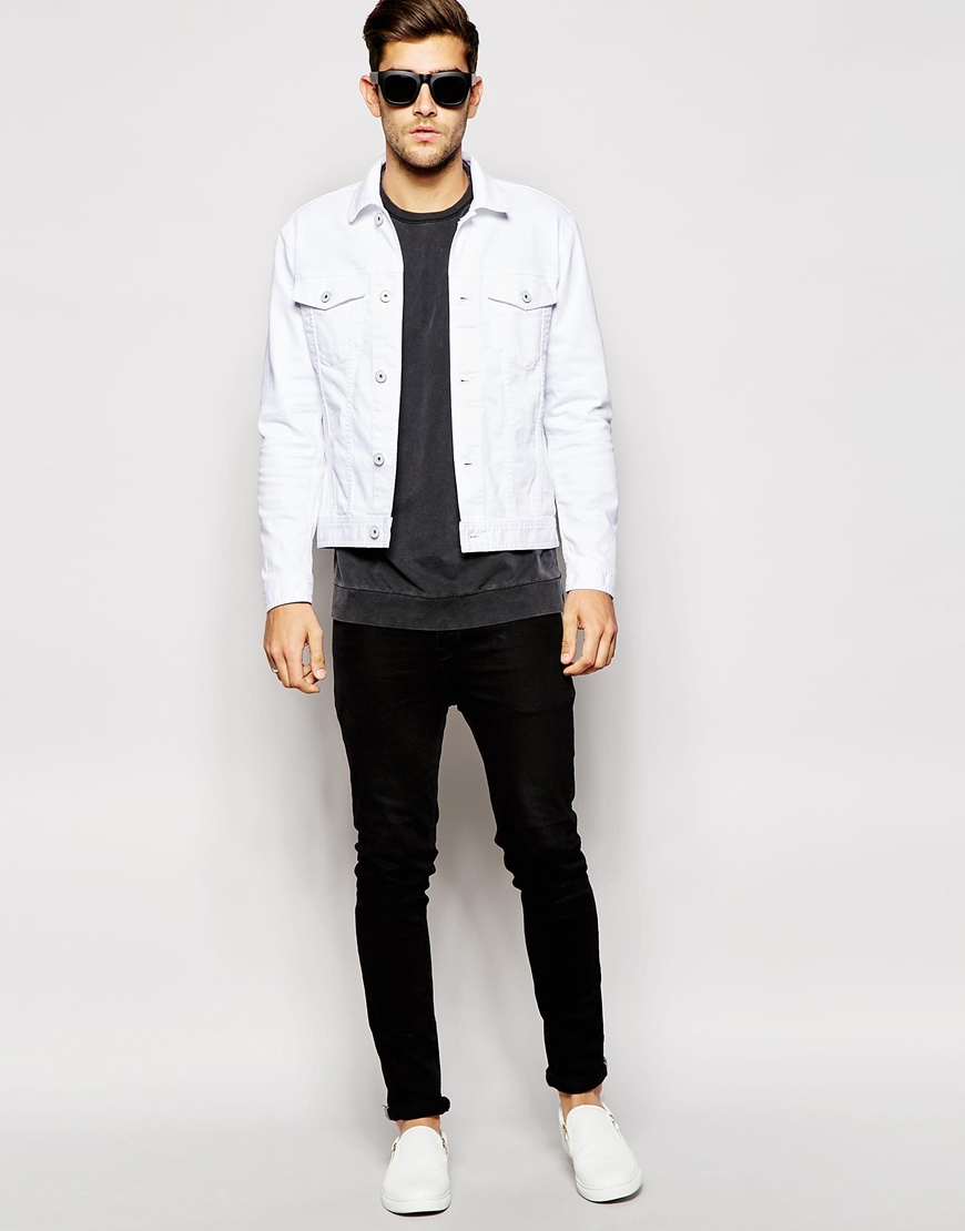 White Denim Jackets For Men - JacketIn