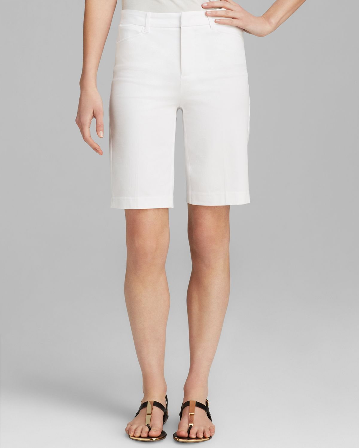 Nydj Bermuda Shorts in White | Lyst