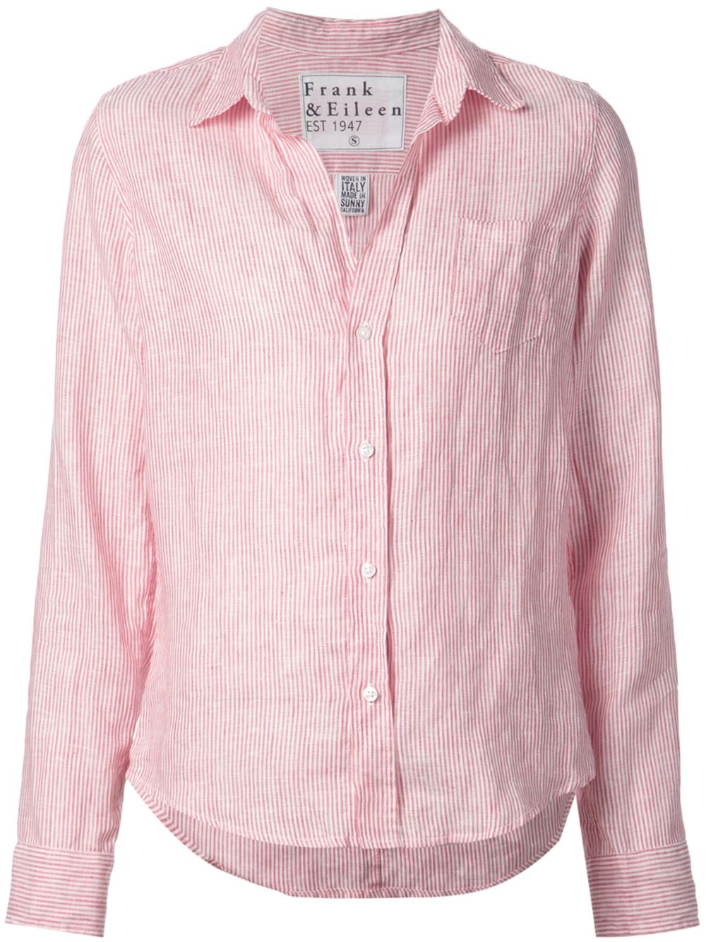 Frank Eileen Striped Shirt In Red Lyst