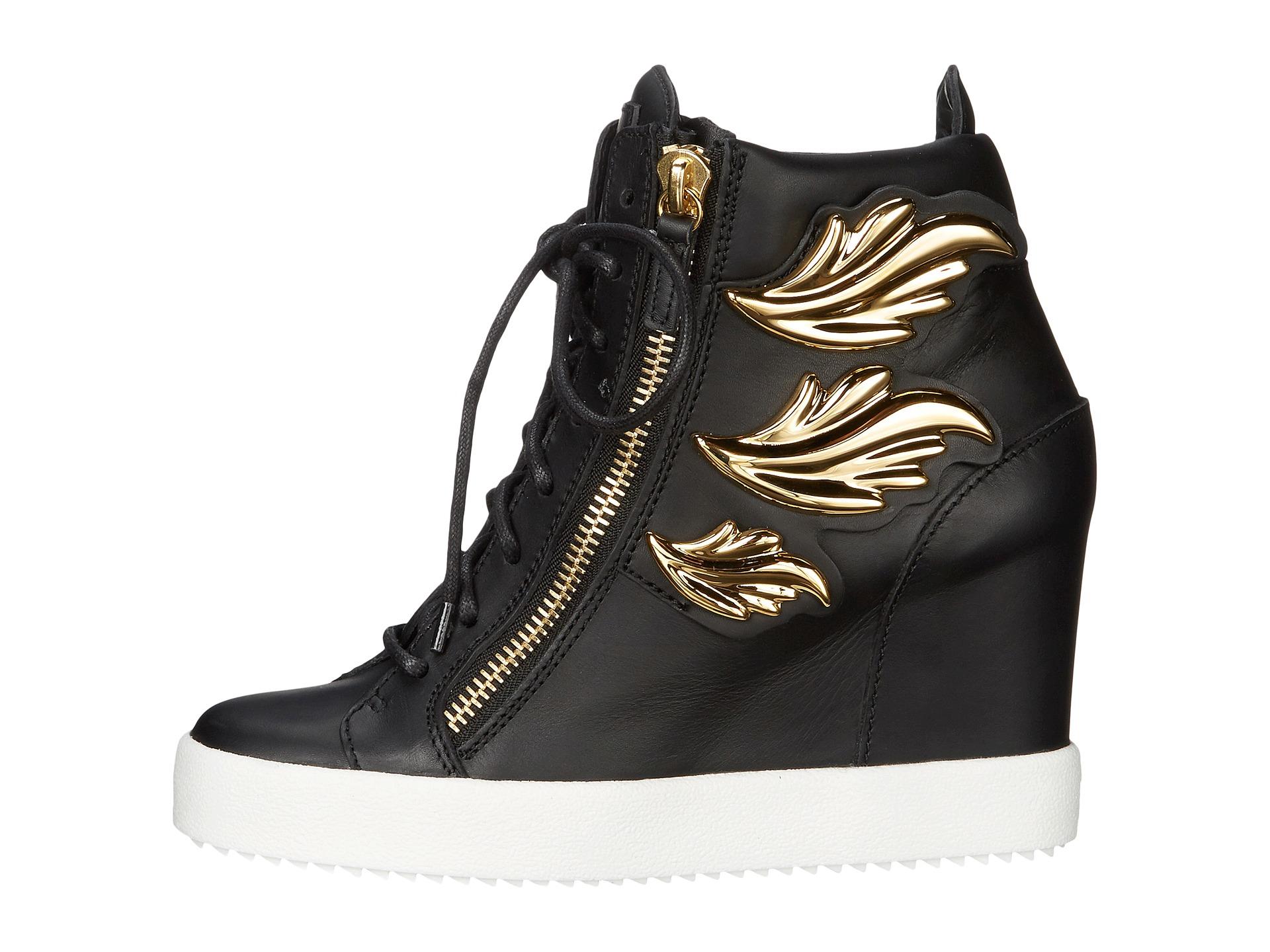 Giuseppe zanotti Hi-top Wedge Winged Sneaker | Lyst