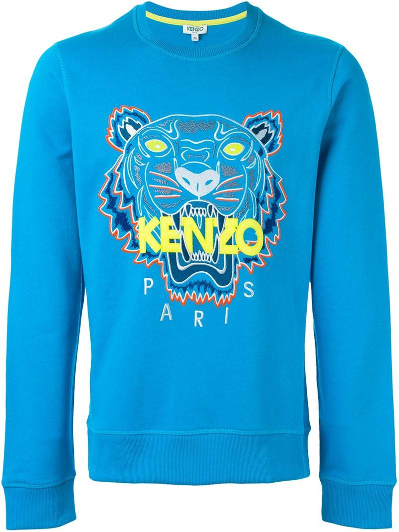 b5d34d1b7 KENZO 'tiger' Sweatshirt in Blue for Men - Lyst