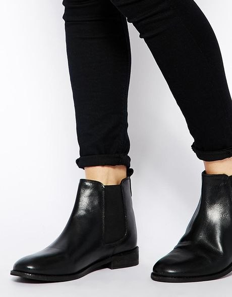 Unique ASOS  ASOS Chelsea Boots In Chestnut Leather At ASOS