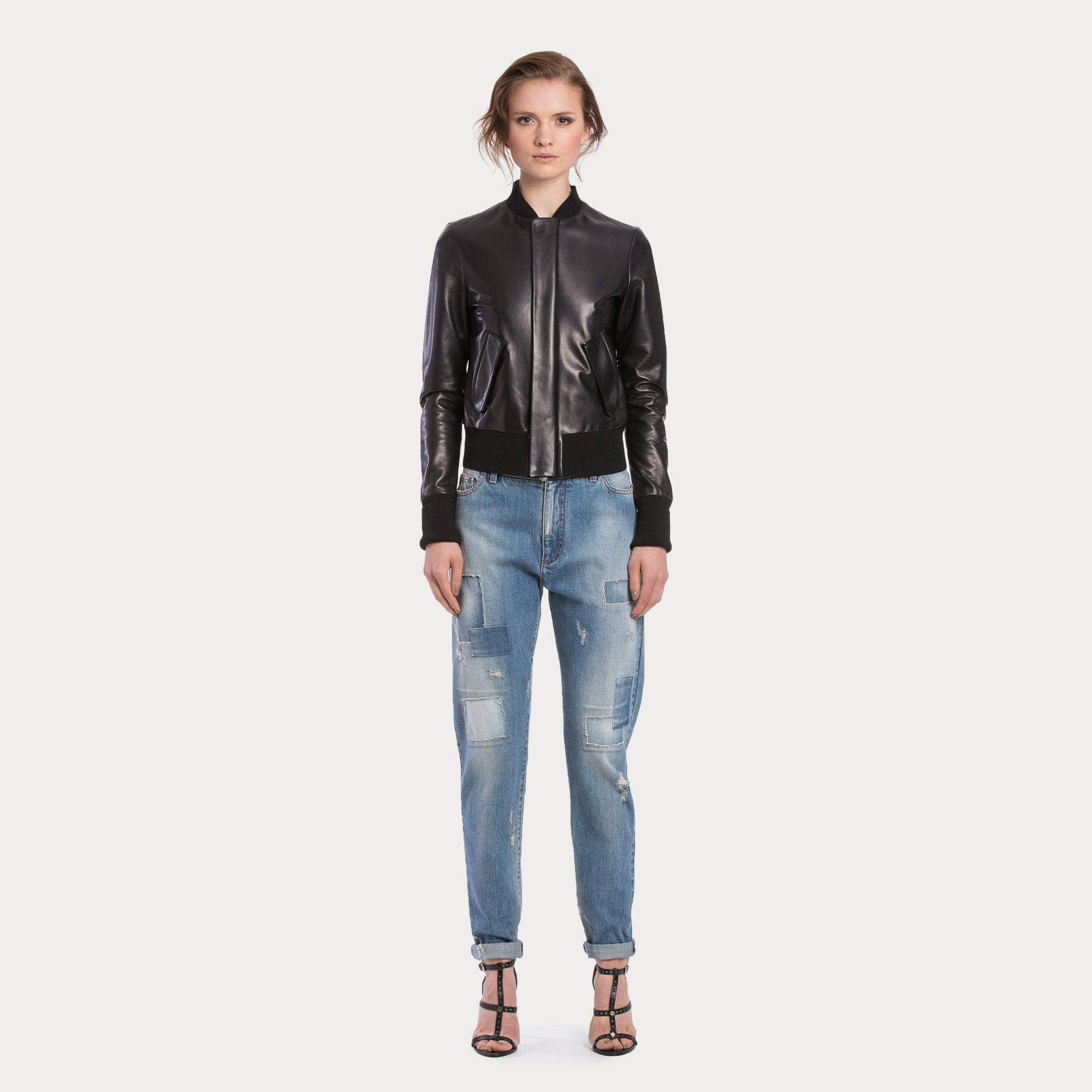 Bally Lamb Nappa Bomber Jacket Women S Black Leather Bomber Jacket