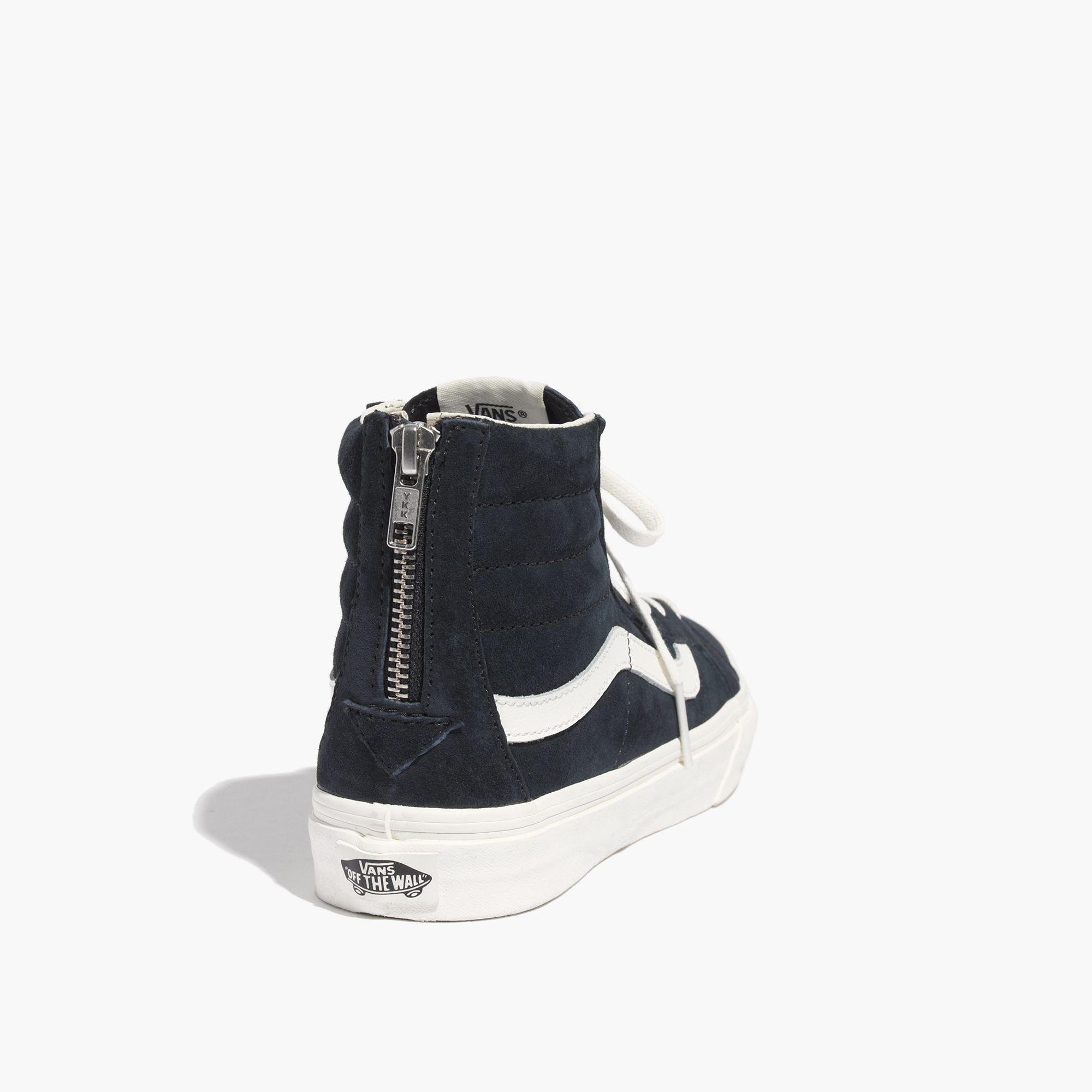 461eb50092 Madewell Vans® Sk8-Hi Slim Zip High-Top Sneakers In Navy Leather in ...